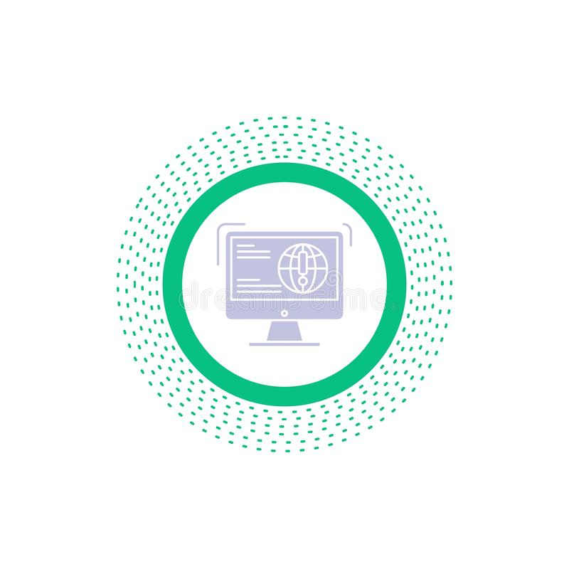 πληροφορίες, περιεχόμενο, ανάπτυξη, ιστοχώρος, εικονίδιο Glyph Ιστού : διανυσματική απεικόνιση