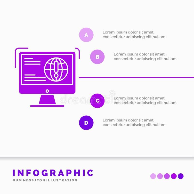 πληροφορίες, περιεχόμενο, ανάπτυξη, ιστοχώρος, πρότυπο Infographics Ιστού για τον ιστοχώρο και παρουσίαση r ελεύθερη απεικόνιση δικαιώματος