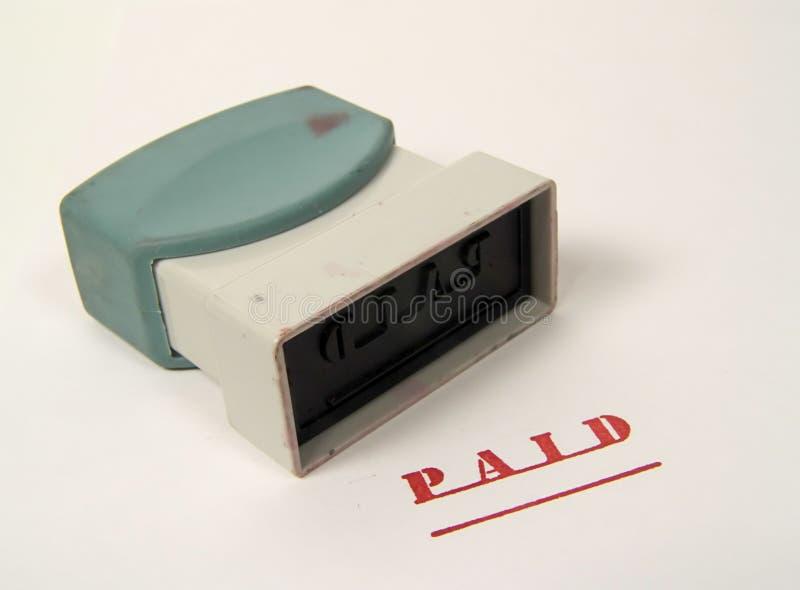 πληρωμένο γραμματόσημο στοκ εικόνα με δικαίωμα ελεύθερης χρήσης