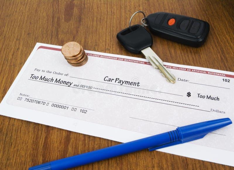 πληρωμή έννοιας αυτοκινήτ&o στοκ εικόνα