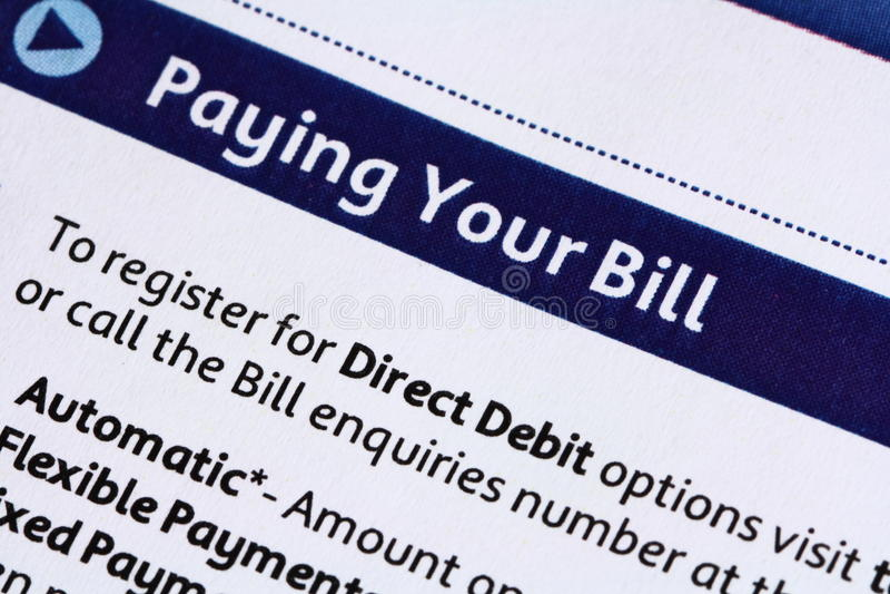 πληρωμή λογαριασμών σας στοκ φωτογραφίες