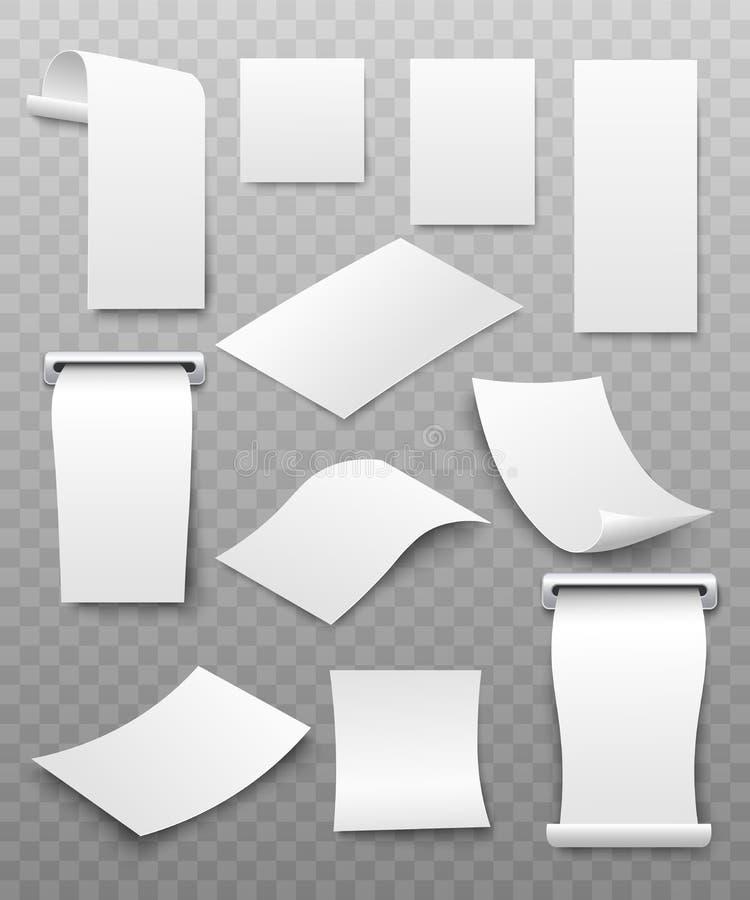 Πληρωμή μετρητοίς τιμολογίων εγγράφων ή καταστημάτων ελέγχου διανυσματικό σύνολο προτύπων παραλαβών τρισδιάστατο διανυσματική απεικόνιση