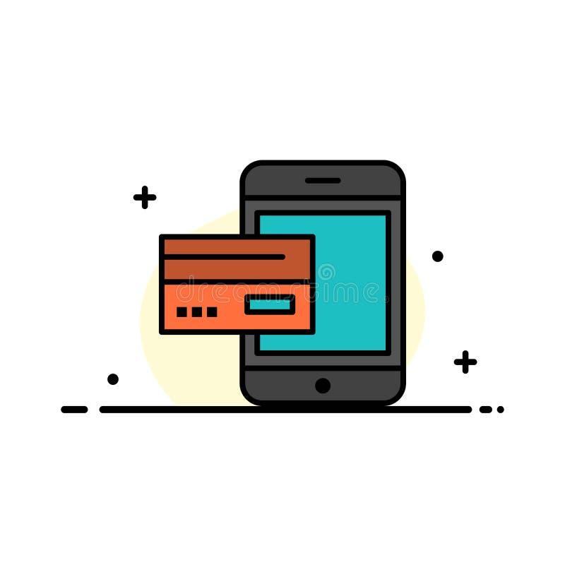 Πληρωμή, τράπεζα, τραπεζικές εργασίες, κάρτα, πίστωση, κινητή, χρήματα, Smartphone πρότυπο εμβλημάτων επιχειρησιακών επίπεδο γεμι ελεύθερη απεικόνιση δικαιώματος