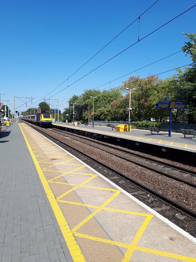 Πλησιάζοντας τραίνο στοκ εικόνα με δικαίωμα ελεύθερης χρήσης