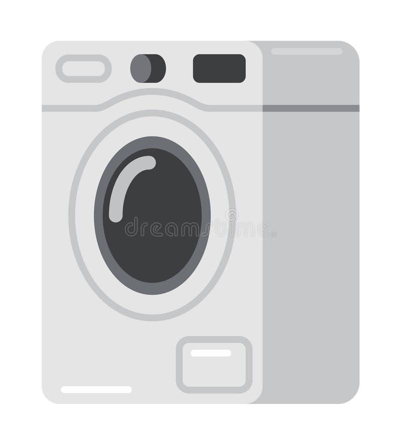 Πλυντήριο στην επίπεδη διανυσματική απεικόνιση ύφους στοκ φωτογραφία