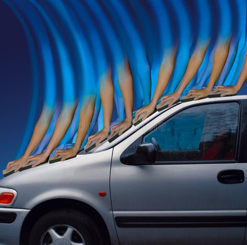 πλύση αυτοκινήτων διανυσματική απεικόνιση