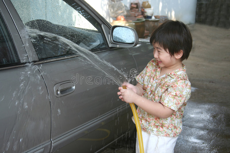 πλύση κατσικιών αυτοκινήτ στοκ εικόνες με δικαίωμα ελεύθερης χρήσης