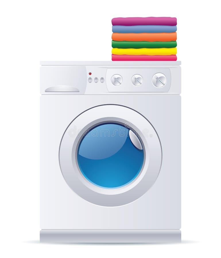 πλύση μηχανών διανυσματική απεικόνιση