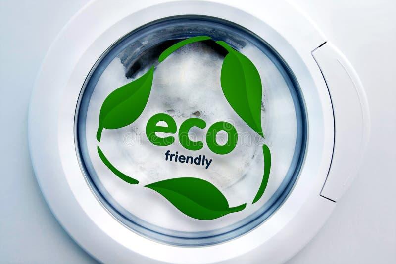 πλύση μηχανών eco στοκ φωτογραφία με δικαίωμα ελεύθερης χρήσης