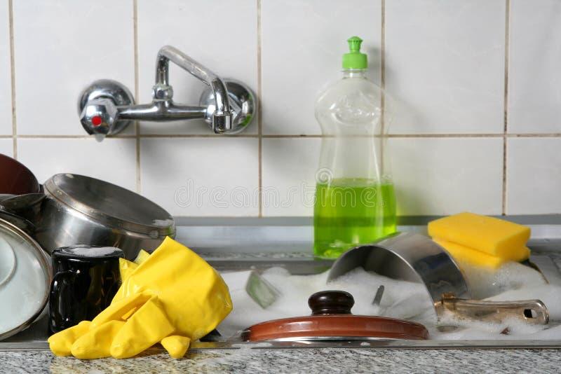 Πλύση πιάτων στοκ φωτογραφίες με δικαίωμα ελεύθερης χρήσης