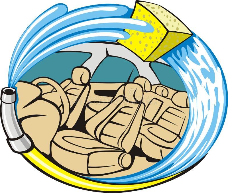 πλύσιμο περιποίησης αυτ&omic διανυσματική απεικόνιση