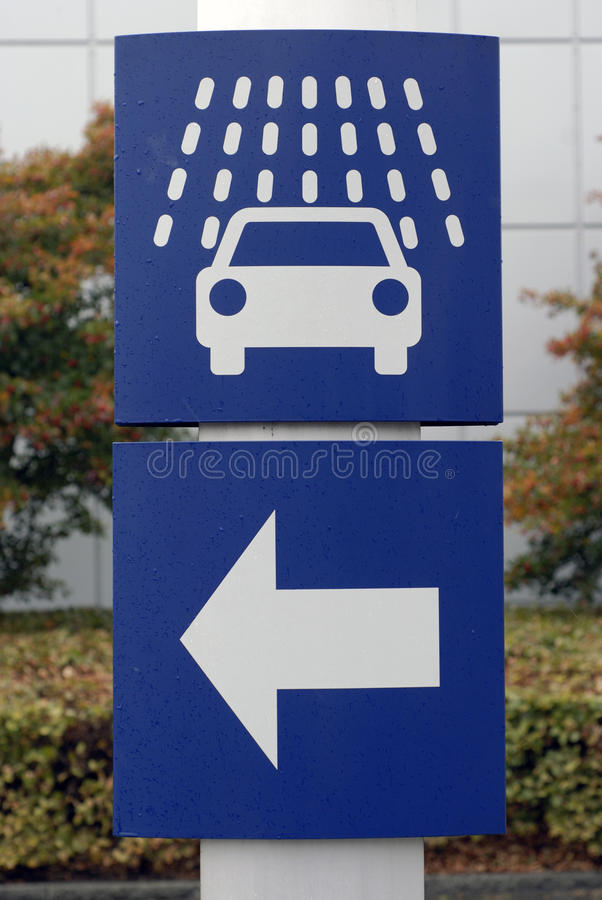 πλύσιμο σημαδιών αυτοκινή στοκ φωτογραφίες