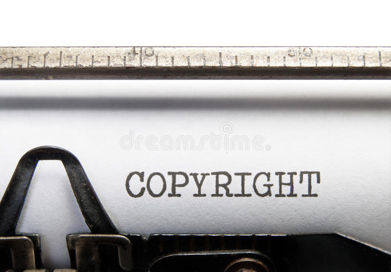 Πνευματικά δικαιώματα στοκ φωτογραφία με δικαίωμα ελεύθερης χρήσης