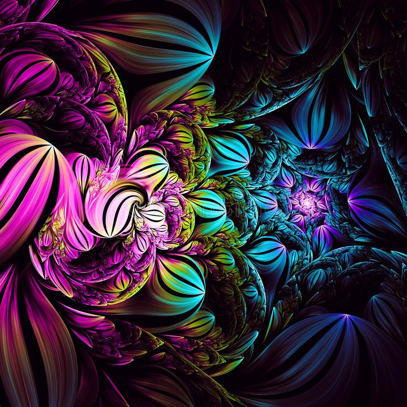 Πνευματική ονειροπόλος ελλειπτική Fractal διάσπασης τέχνη ελεύθερη απεικόνιση δικαιώματος