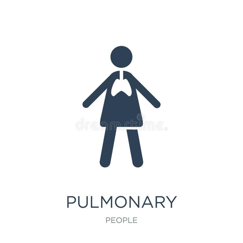 πνευμονικό εικονίδιο στο καθιερώνον τη μόδα ύφος σχεδίου πνευμονικό εικονίδιο που απομονώνεται στο άσπρο υπόβαθρο πνευμονικό διαν ελεύθερη απεικόνιση δικαιώματος