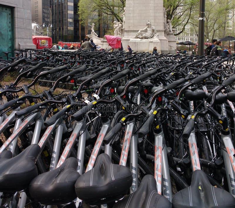 Ποδήλατα για το μίσθωμα, Central Park, NYC, Νέα Υόρκη, ΗΠΑ στοκ φωτογραφίες με δικαίωμα ελεύθερης χρήσης