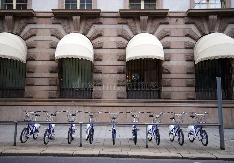 ποδήλατα Νορβηγία Όσλο στοκ εικόνες