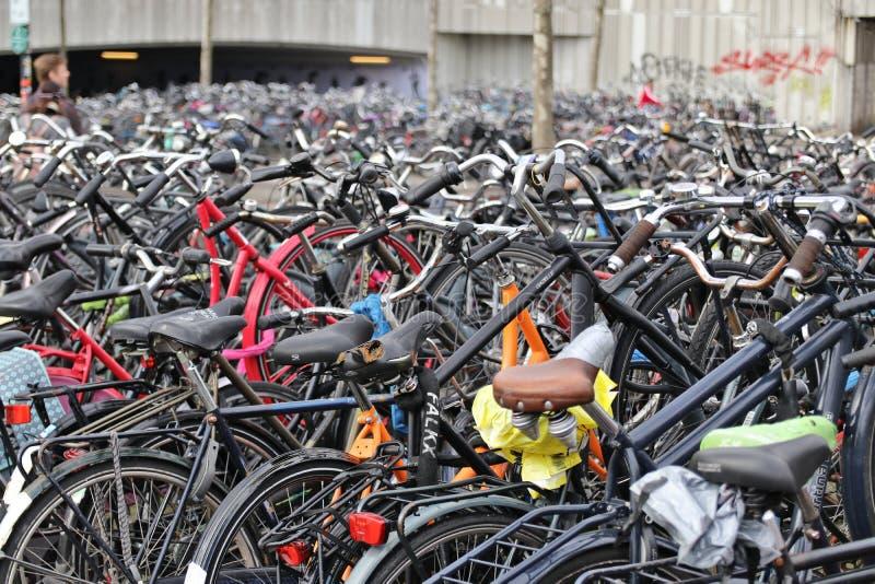 Ποδήλατα στο Αϊντχόβεν, Κάτω Χώρες στοκ εικόνα