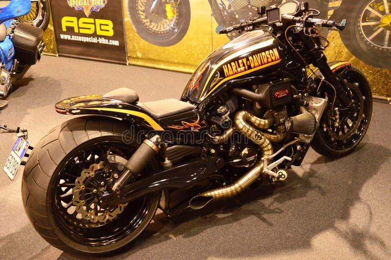 Ποδήλατο EXPO, μοτοσικλέτα Harley Davidson μηχανών στοκ εικόνες