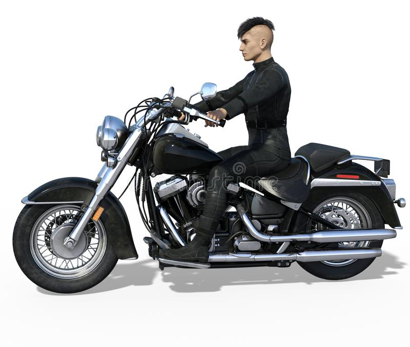 Ποδηλάτης που απομονώνεται όμορφος διανυσματική απεικόνιση