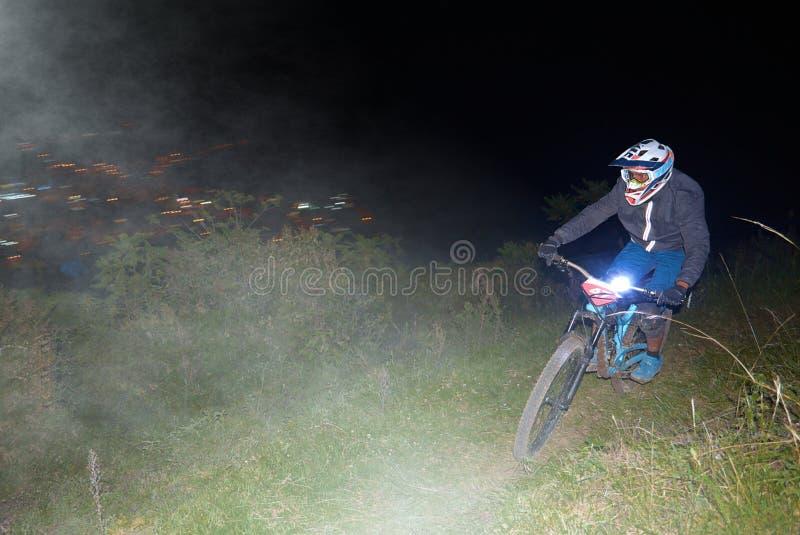 Ποδηλάτης που συμμετέχει στο φλυτζάνι Nariño Enduro MTB στοκ εικόνες με δικαίωμα ελεύθερης χρήσης