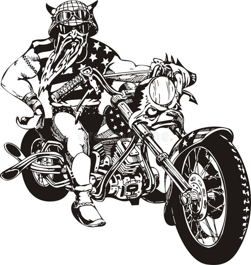 ποδηλάτης τρελλός απεικόνιση αποθεμάτων