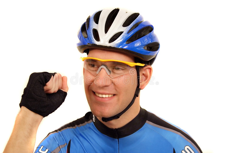 ποδηλάτης υπέρ στοκ εικόνα