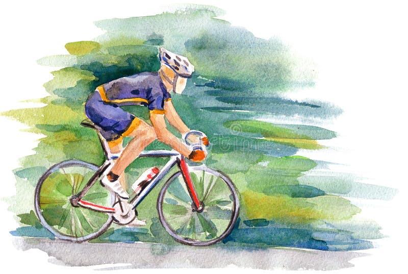 Ποδηλάτης διανυσματική απεικόνιση