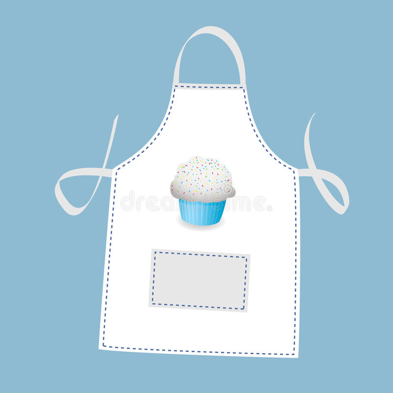ποδιά cupcake απεικόνιση αποθεμάτων