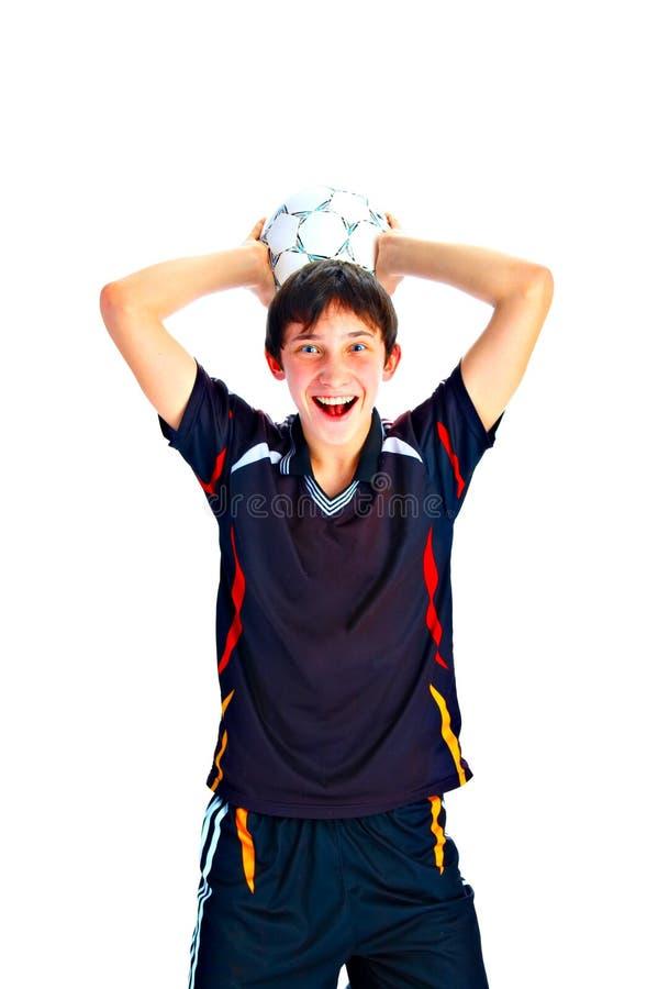 Ποδοσφαιριστής με τη σφαίρα στοκ φωτογραφία με δικαίωμα ελεύθερης χρήσης