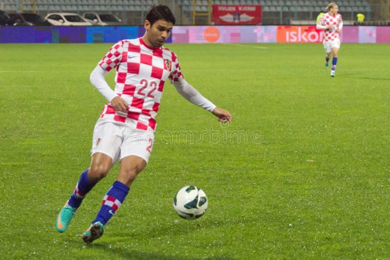 Ποδοσφαιριστής - Eduardo DA Silva στοκ εικόνες