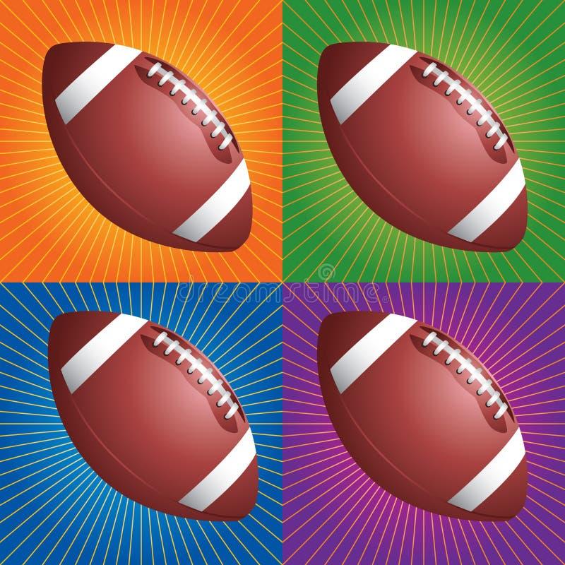 ποδόσφαιρα αναδρομικά απεικόνιση αποθεμάτων