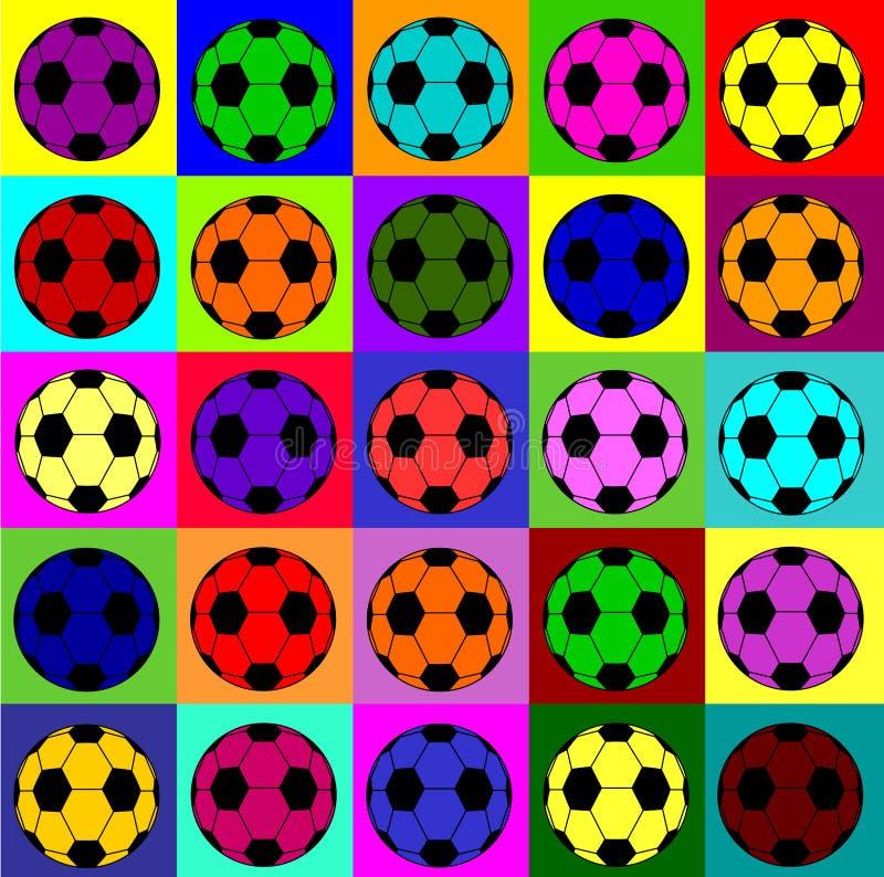 Ποδόσφαιρα Warhol ελεύθερη απεικόνιση δικαιώματος