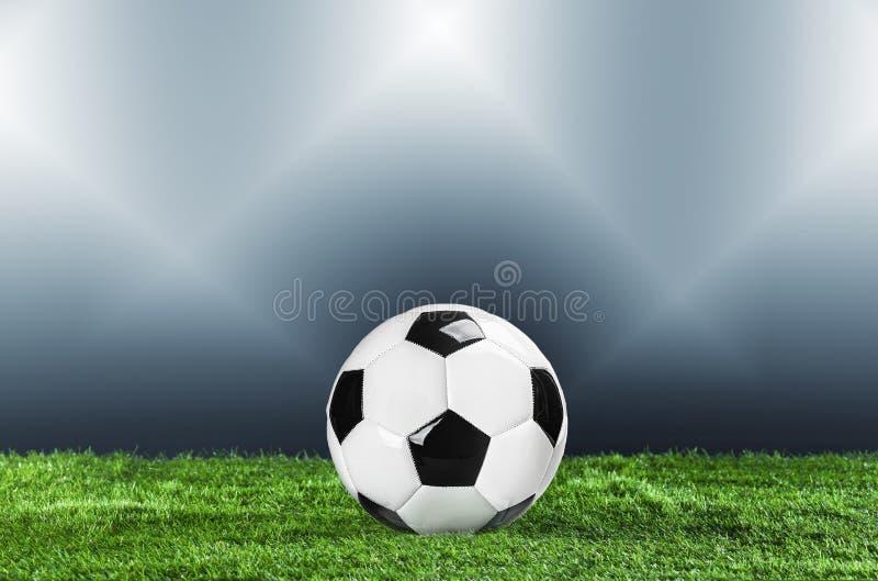 ποδόσφαιρο Έννοια πρωταθλήματος με τη σφαίρα ποδοσφαίρου στοκ εικόνες