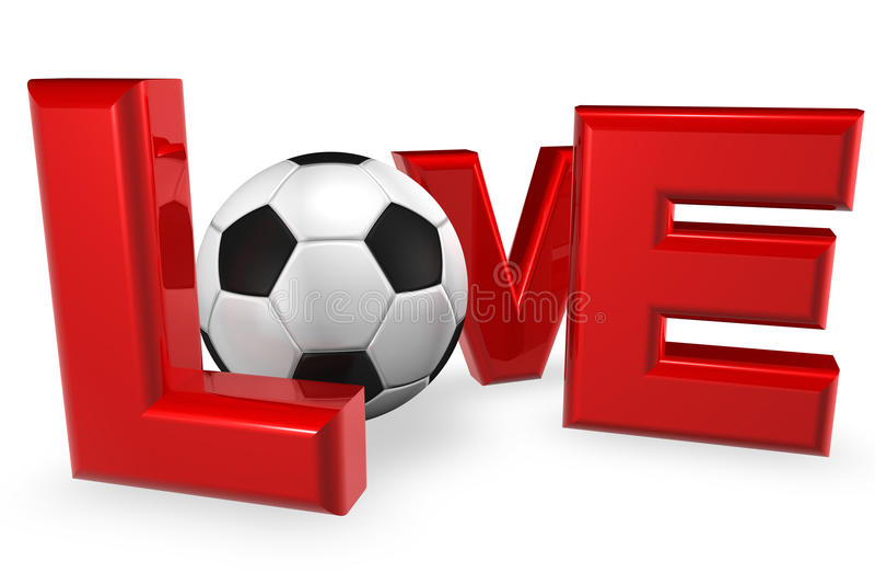 ποδόσφαιρο αγάπης ελεύθερη απεικόνιση δικαιώματος