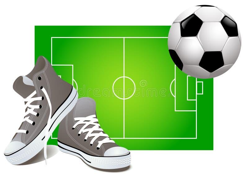 ποδόσφαιρο ανασκόπησης ελεύθερη απεικόνιση δικαιώματος
