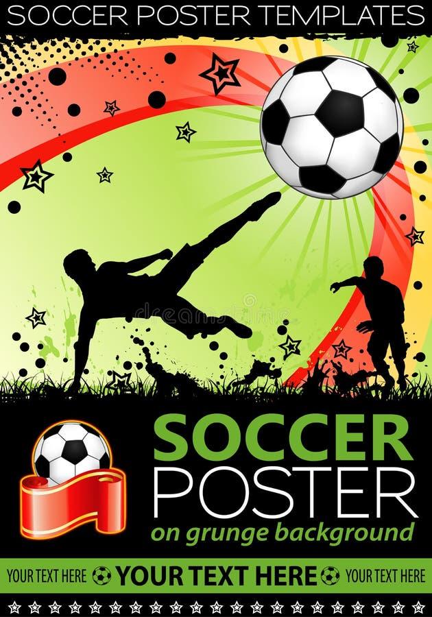 ποδόσφαιρο αφισών απεικόνιση αποθεμάτων