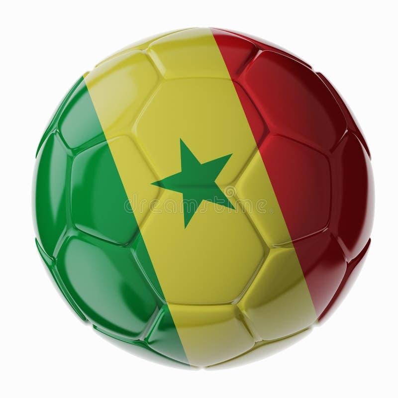 ποδόσφαιρο γυαλιού καψίματος σφαιρών aqua σημαία Σενεγάλη στοκ εικόνες