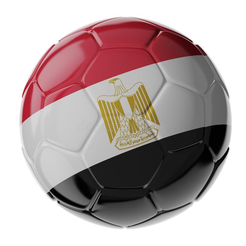 ποδόσφαιρο γυαλιού καψίματος σφαιρών aqua σημαία της Αιγύπτου στοκ φωτογραφία με δικαίωμα ελεύθερης χρήσης