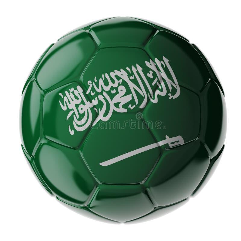 ποδόσφαιρο γυαλιού καψίματος σφαιρών aqua Σημαία της Σαουδικής Αραβίας στοκ εικόνες