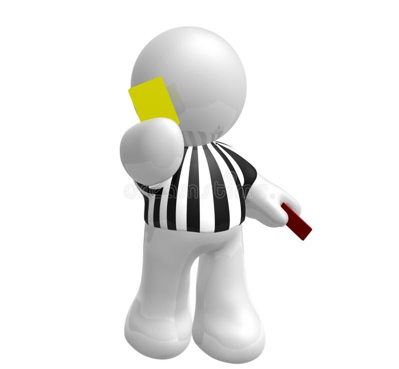ποδόσφαιρο διαιτητών καρ&ta απεικόνιση αποθεμάτων