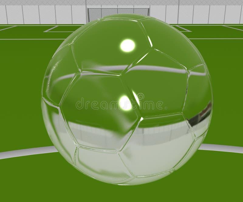 ποδόσφαιρο κρυστάλλου  στοκ φωτογραφία με δικαίωμα ελεύθερης χρήσης