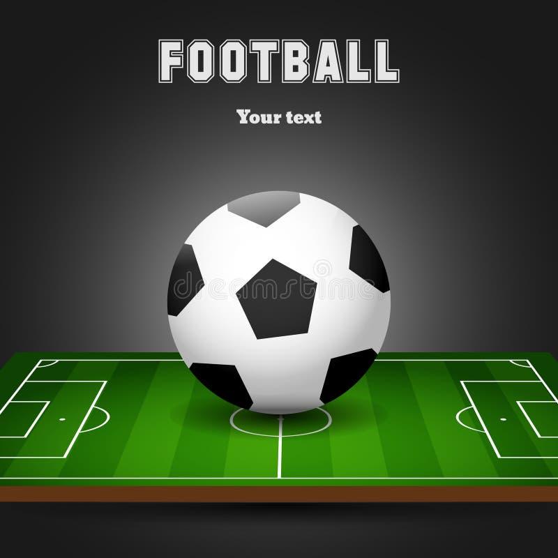 ποδόσφαιρο πεδίων σφαιρών Μαύρο υπόβαθρο ποδοσφαίρου ελεύθερη απεικόνιση δικαιώματος