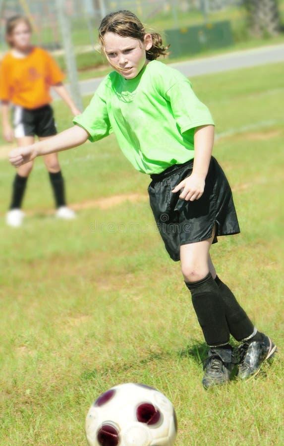 ποδόσφαιρο πεδίων goalie στοκ εικόνα