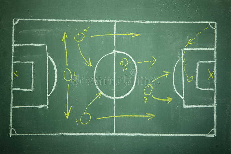 ποδόσφαιρο πλανίσματος π στοκ φωτογραφία
