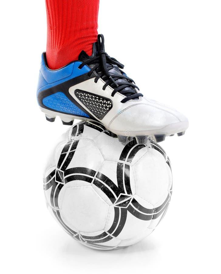 ποδόσφαιρο ποδοσφαίρου σφαιρών στοκ εικόνα με δικαίωμα ελεύθερης χρήσης