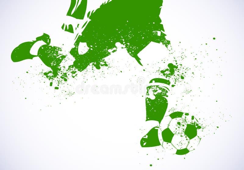 Ποδόσφαιρο ποδοσφαίρου Grunge διανυσματική απεικόνιση