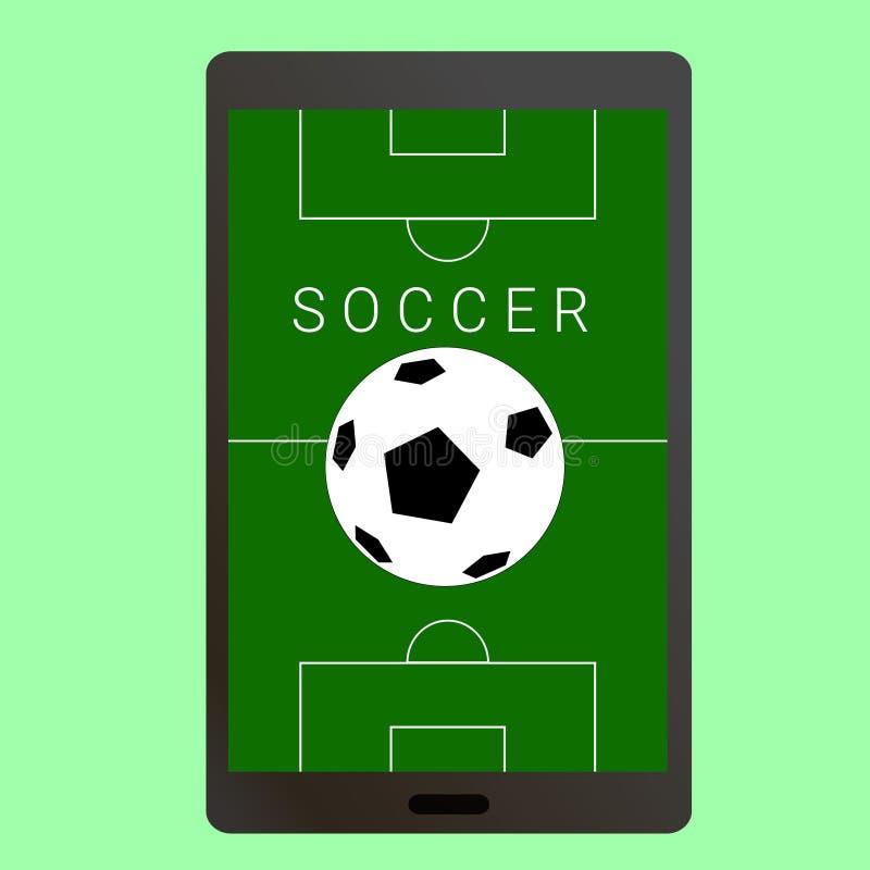 Ποδόσφαιρο ποδοσφαίρου Smartphone διανυσματική απεικόνιση