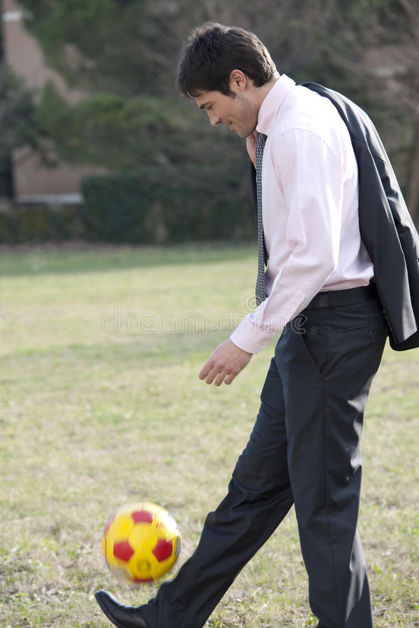 ποδόσφαιρο ποδοσφαίρο&upsi στοκ φωτογραφία με δικαίωμα ελεύθερης χρήσης