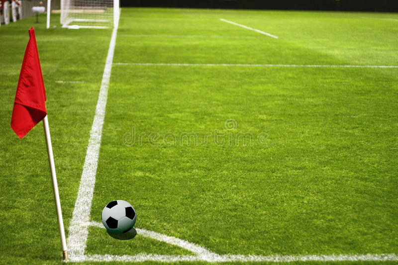ποδόσφαιρο ποδοσφαιρι&kap στοκ εικόνα
